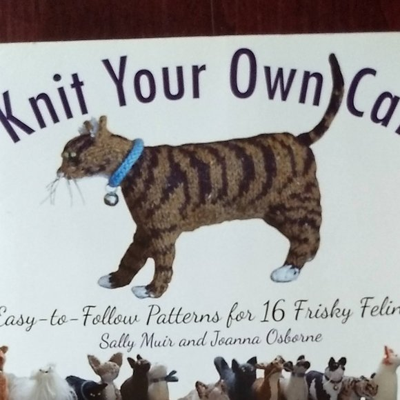 knit your own cats 16 patterns NWT